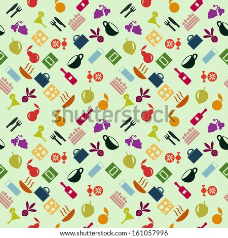 seamless pattern with food items