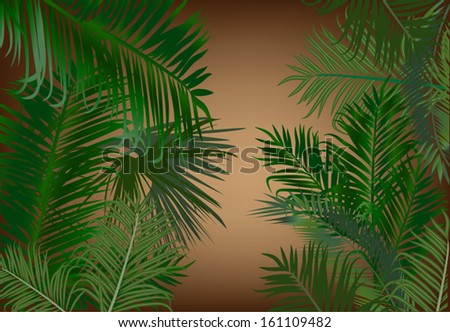 illustration with palm foliage