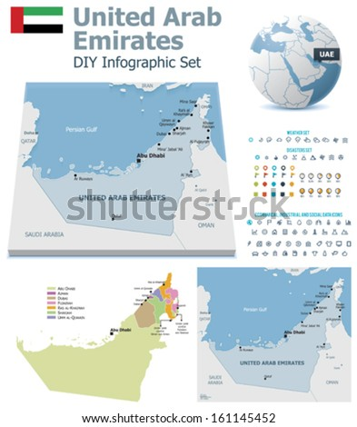 united arab emirates maps with