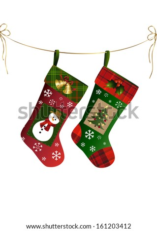 two christmas stockings