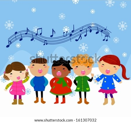winter kids singing silent