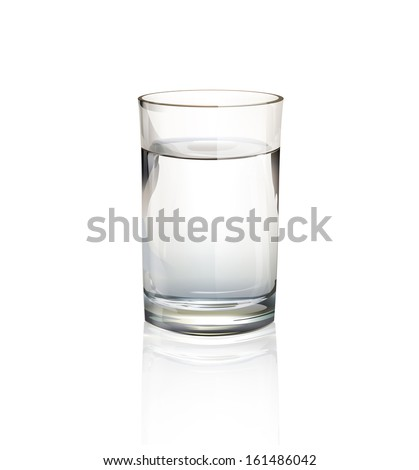realistic water glass vector