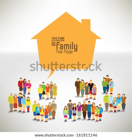 happy family vector design