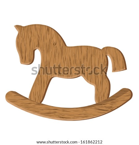 vector wooden horse toy
