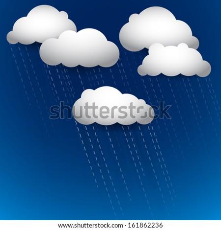 vector rainy sky