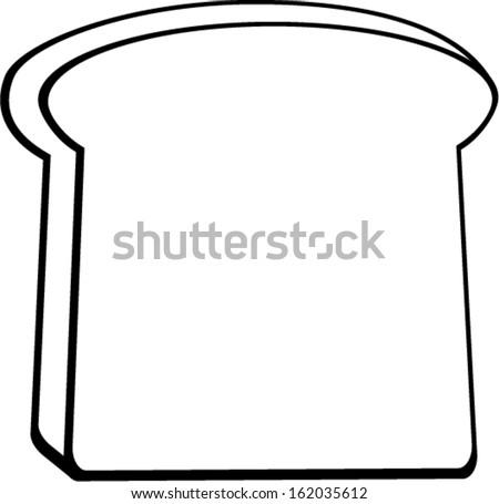 Bread Slice Drawing Sketch Coloring Page