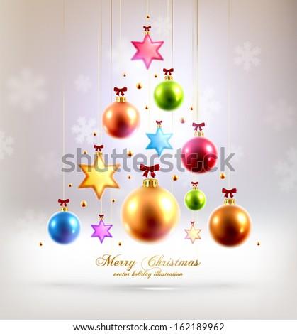 christmas balls and stars xmas