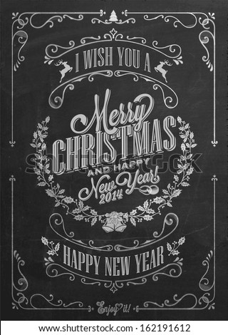 vintage christmas and new year
