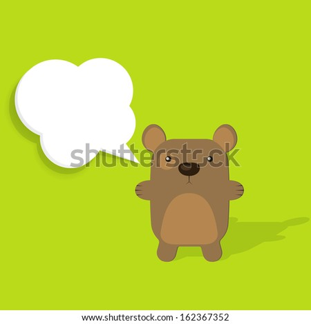 bear with speech bubble