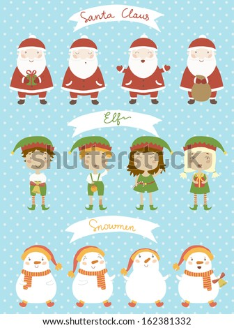 christmas set santa claus