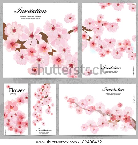 set of floral cards for your