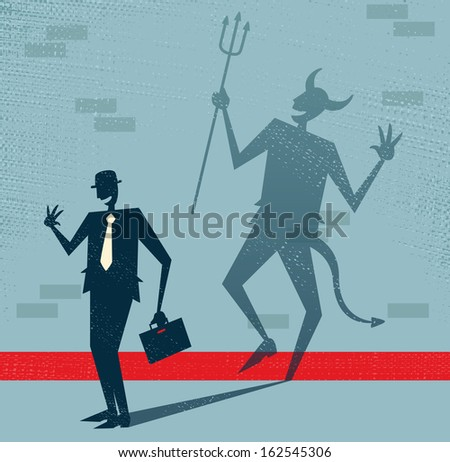 abstract businessman is the