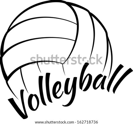 volleyball with fun text