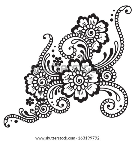 Mehndi Designs On Hand Vector Graphics Free Vector Download 4 503
