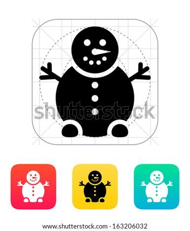 snowman icon vector