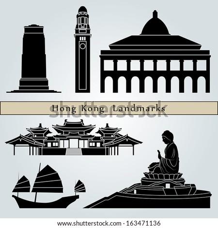 hong kong landmarks and