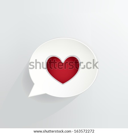 heart symbol speech bubble