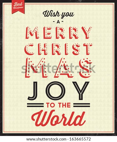 vintage christmas typographic