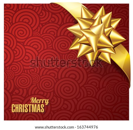 greeting cards with golden bows