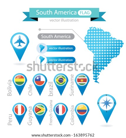 south america flag pointer