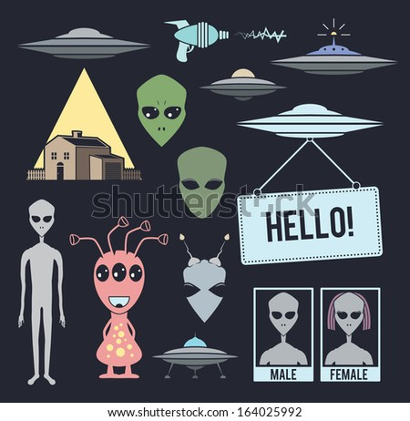 collection of alien design