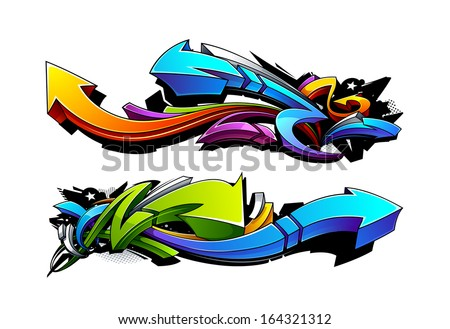 graffiti arrows designs vector