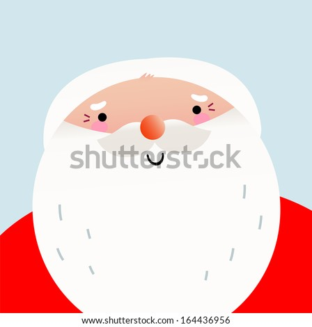 cute cartoon smiling santa face