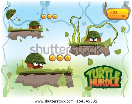 vector set for turtle hurtle