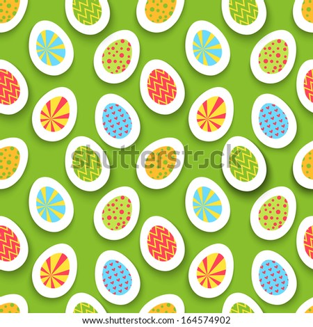 colorful easter egg seamless