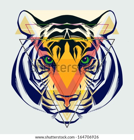 fashion illustration of tiger