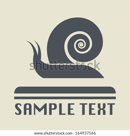 snail icon or sign  vector