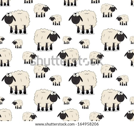 nice texture of cartoon sheeps