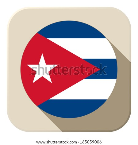 vector   cuba flag button icon