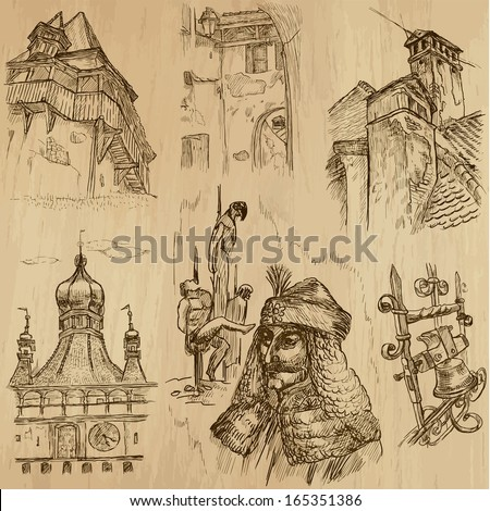 traveling series  romania  set