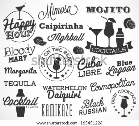 cocktail design elements in