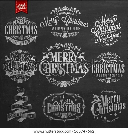 vintage merry christmas and