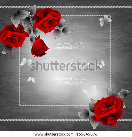wedding card or invitation with