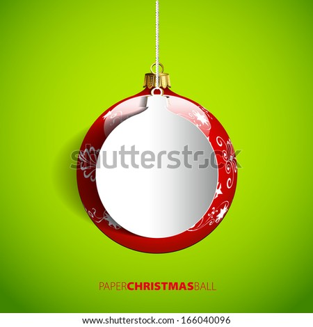 christmas paper ball   vector