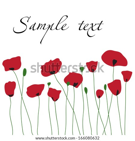 poppies background for a