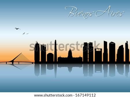 buenos aires skyline   vector