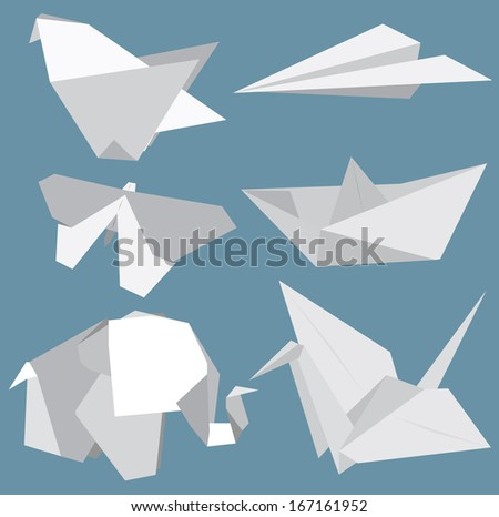 origami vector set