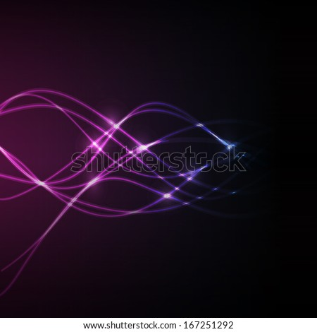 abstract glowing swirly lines