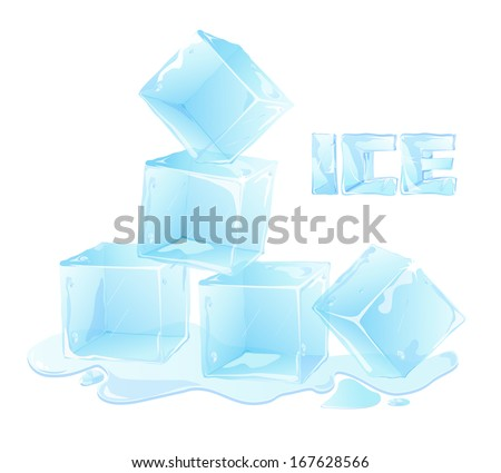 vector ice letters and ice