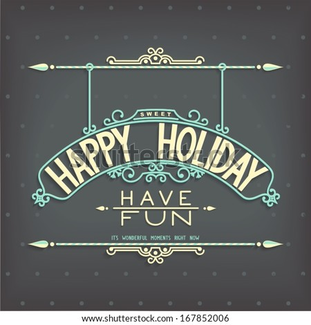 happy holiday retro invitation