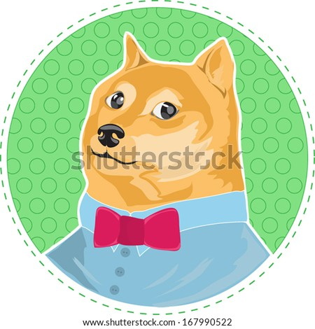 cartoon dog shiba inu