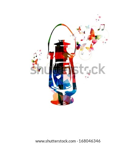 colorful vector lantern