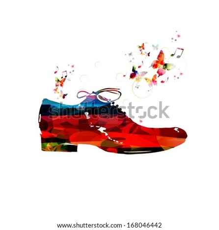 colorful vector shoe background