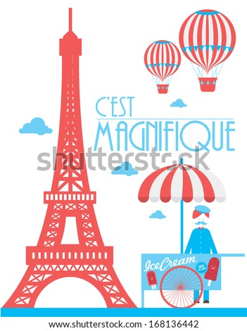 eiffel tower paris ice cream