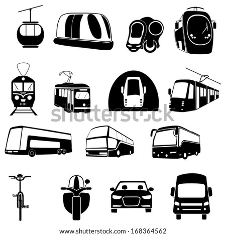transportation icon set on