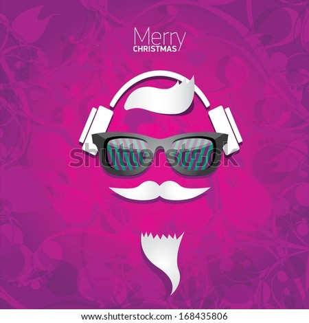 violet christmas hipster poster